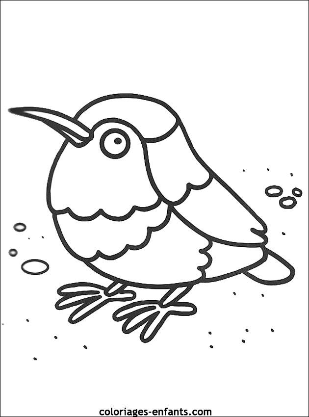 Dessin de oiseau à imprimer
