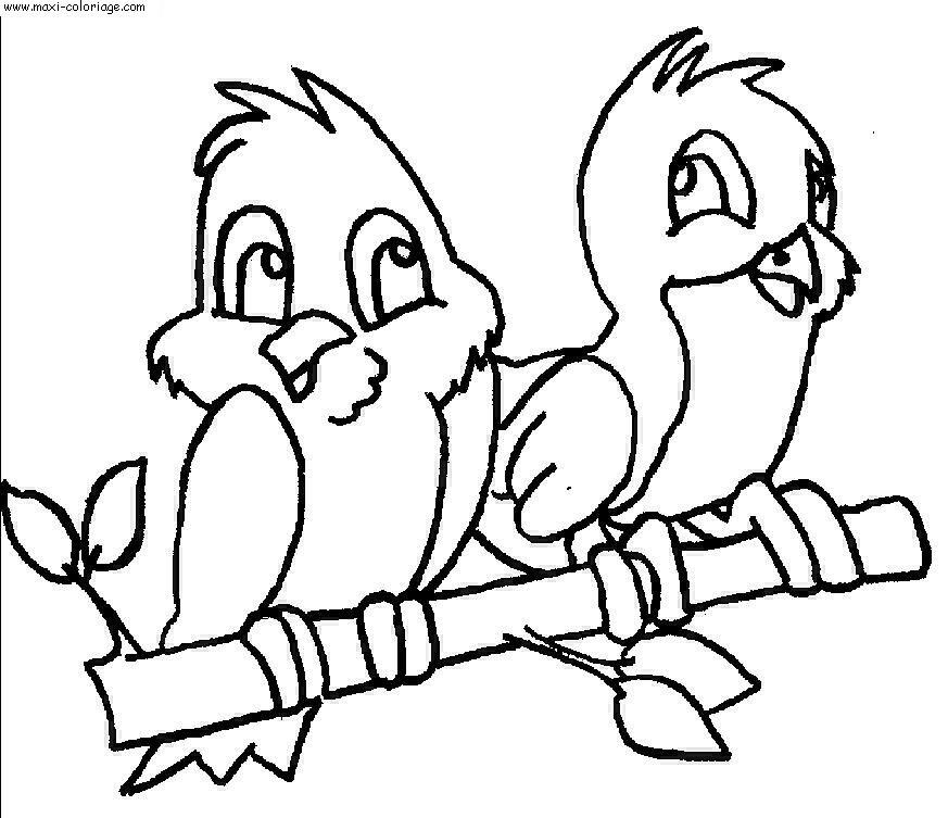 Coloriage de oiseau gratuit à imprimer
