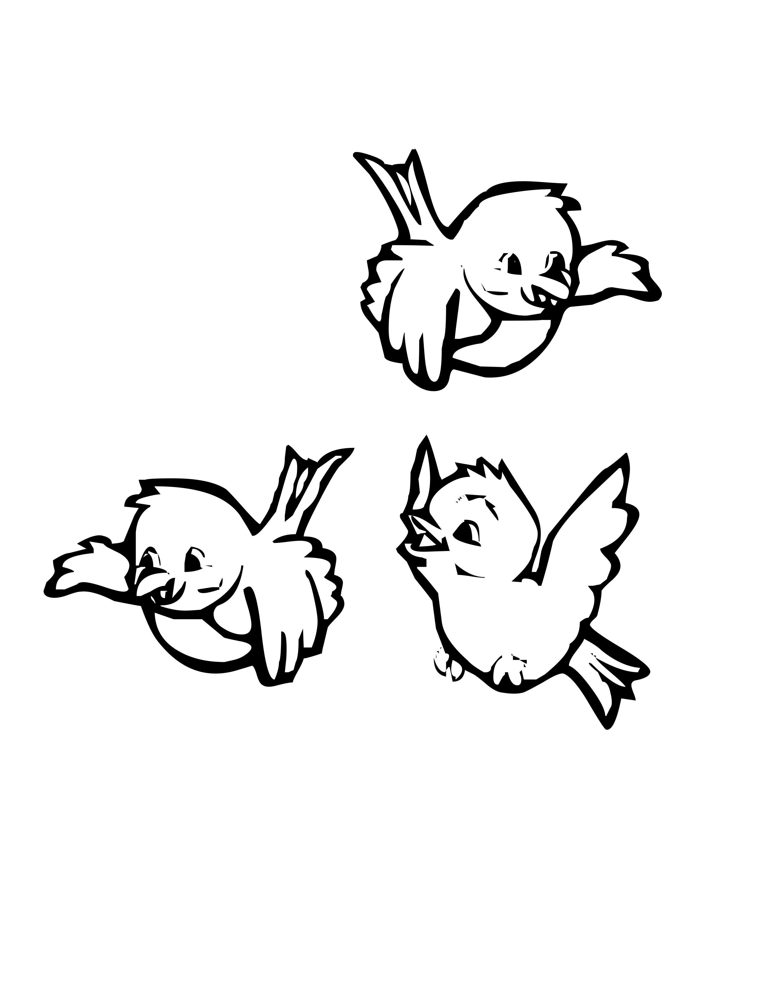 Dessin gratuit de oiseau à imprimer