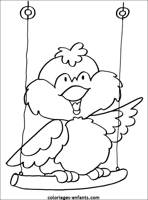 Coloriage de oiseau à imprimer