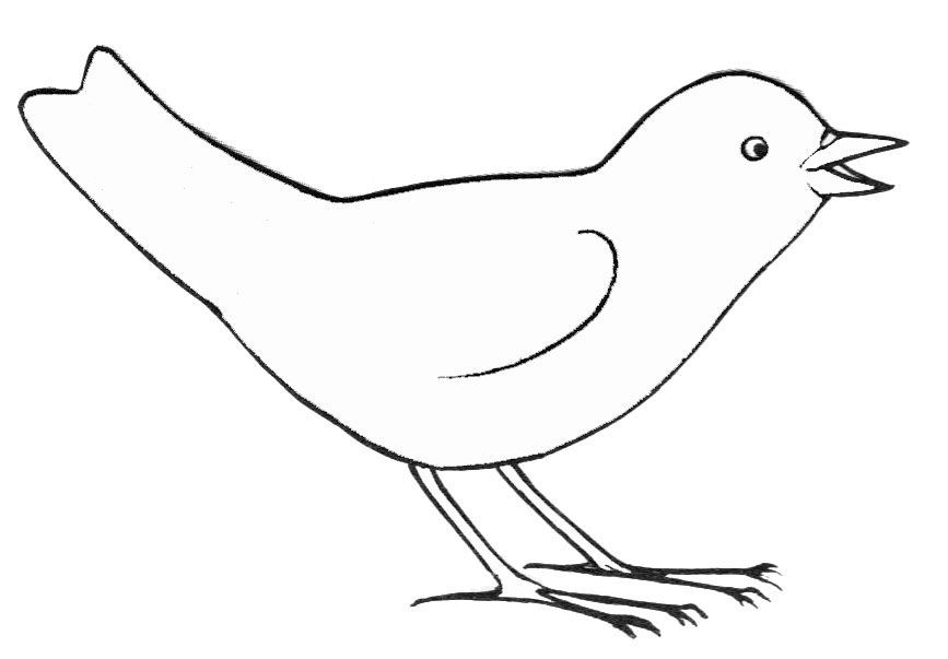 Dessin Simple D'un Oiseau