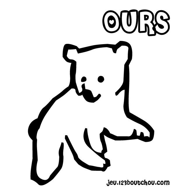 S lection de coloriage ours imprimer sur page 2 - Dessin ours facile ...