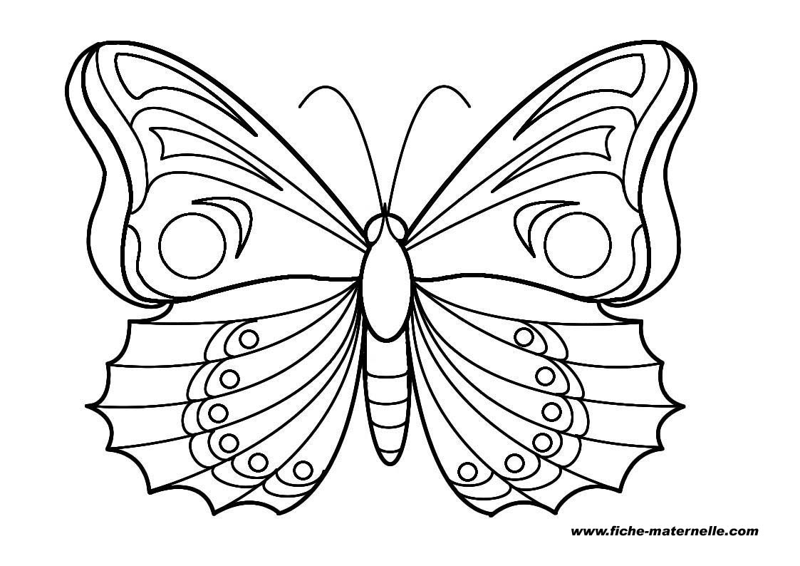 110 dessins de coloriage papillon imprimer sur page 3. Black Bedroom Furniture Sets. Home Design Ideas