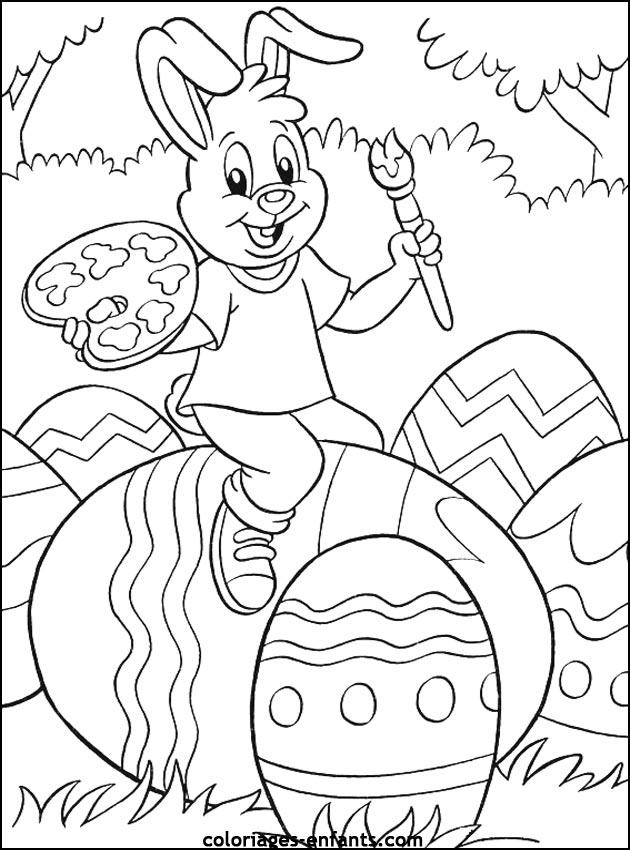 dessin 10723 coloriage paques gratuit