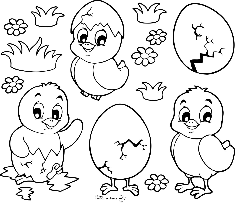 S lection de dessins de coloriage p ques imprimer sur - Coloriages paques ...