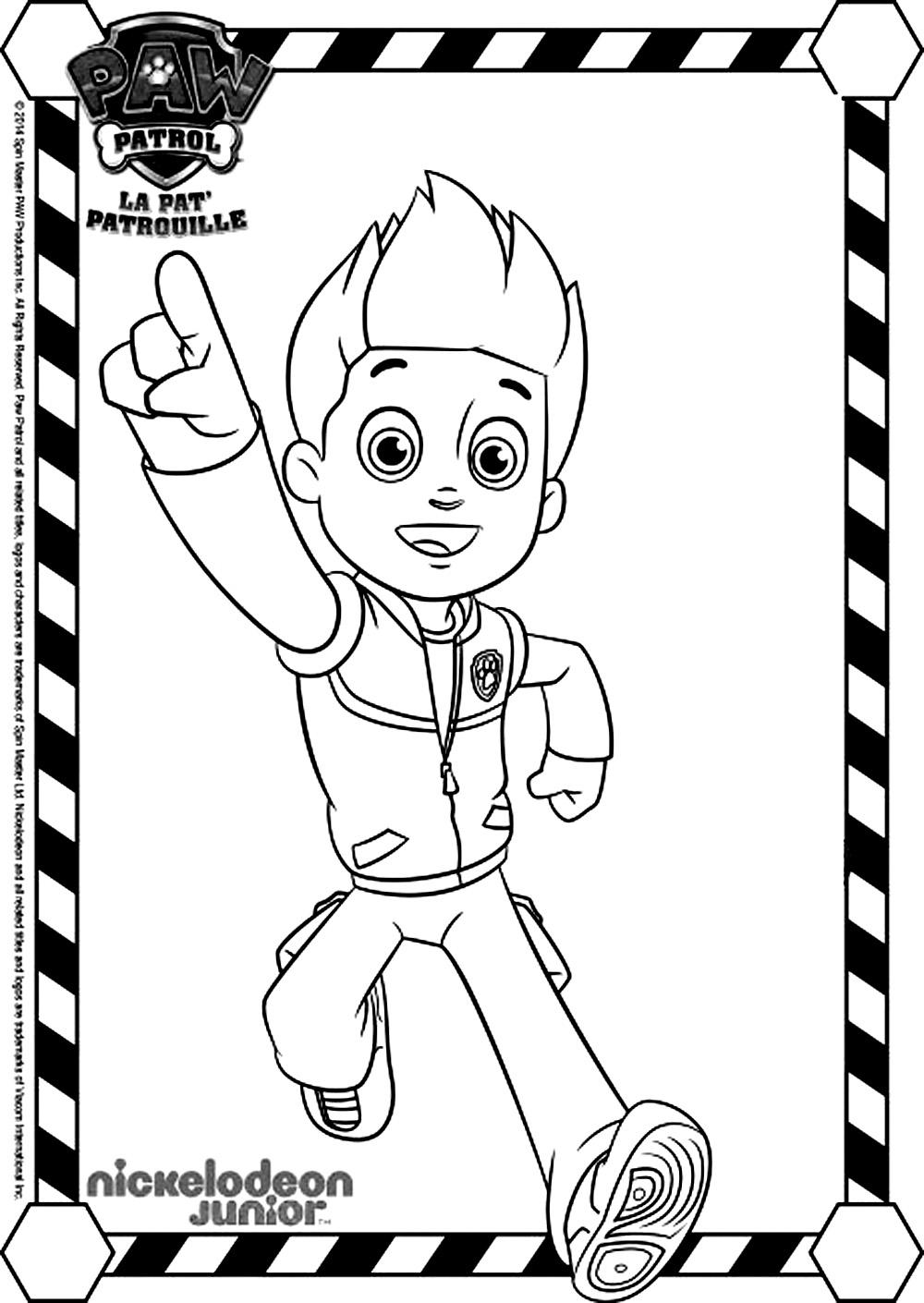 Souvent 35 dessins de coloriage Pat patrouille à imprimer sur LaGuerche  EJ74