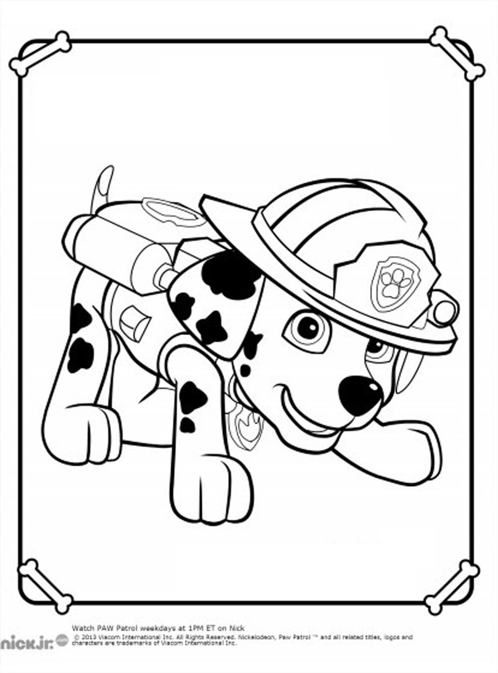 Berühmt 35 dessins de coloriage Pat patrouille à imprimer sur LaGuerche  XM97