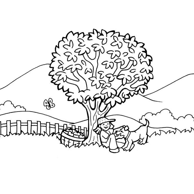le coloriage paysage de campagne pour imprimer le coloriage paysage