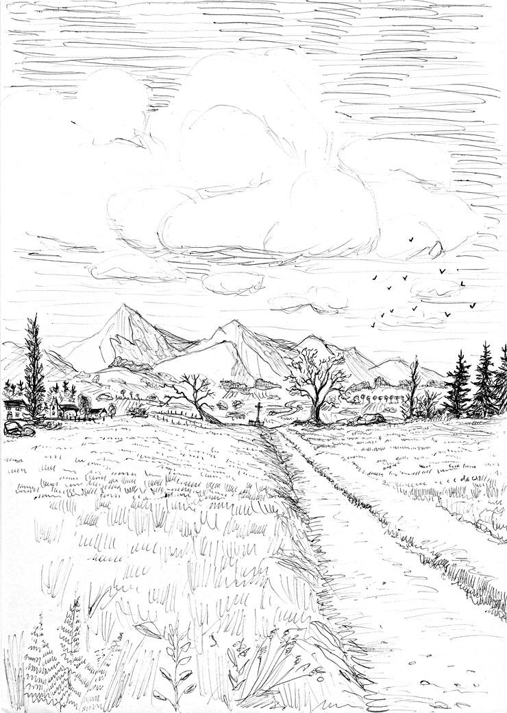 33 dessins de coloriage paysage à imprimer sur LaGuerche.com - Page 2