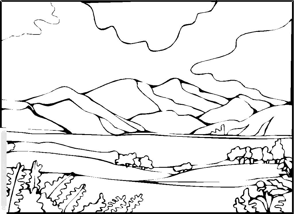 33 dessins de coloriage paysage imprimer sur laguerche - Coloriage paysage mer ...