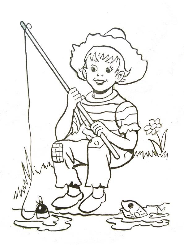 42 dessins de coloriage p cheur imprimer sur page 4 - Coloriage pecheur ...