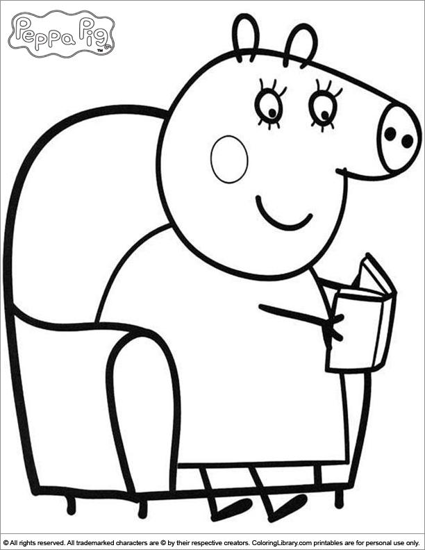 111 dessins de coloriage peppa pig imprimer sur page 1 - Dessin a imprimer peppa pig ...