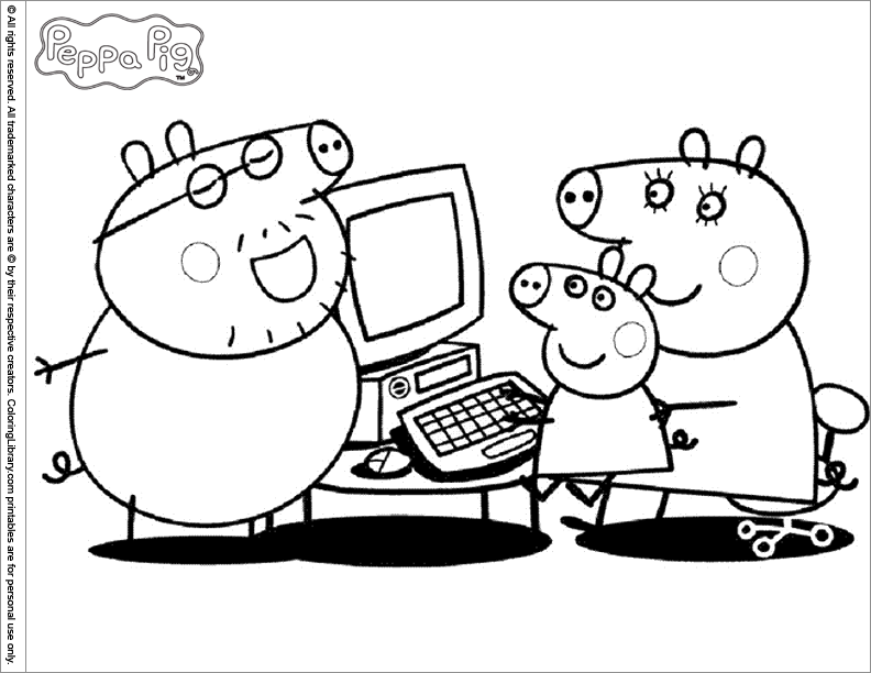 Pintar dibujos de peppa pig png pictures to pin on pinterest - Coloriage Peppa Pig 5 Gratuit 195 Imprimer Pictures To Pin