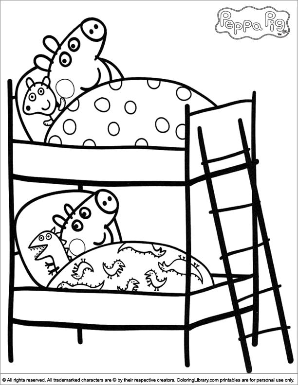 Bien connu 111 dessins de coloriage peppa pig à imprimer sur LaGuerche.com  OY67