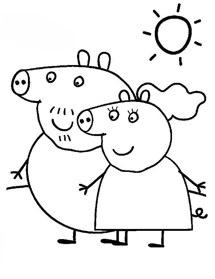 Раскраски для девочек свинка пеппа онлайн - 8