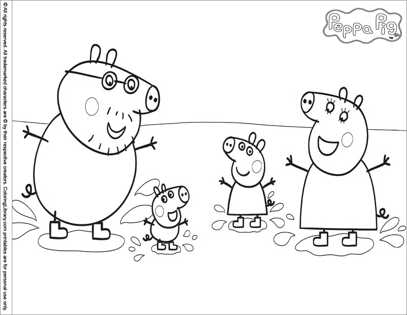 Pintar dibujos de peppa pig png pictures to pin on pinterest - Coloriage Peppa Pig 1 Coloriage Peppa Pig Pictures To Pin