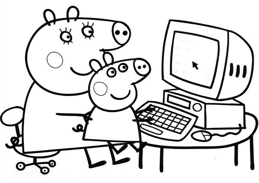 111 dessins de coloriage peppa pig imprimer sur page 10 - Dessin a imprimer peppa pig ...