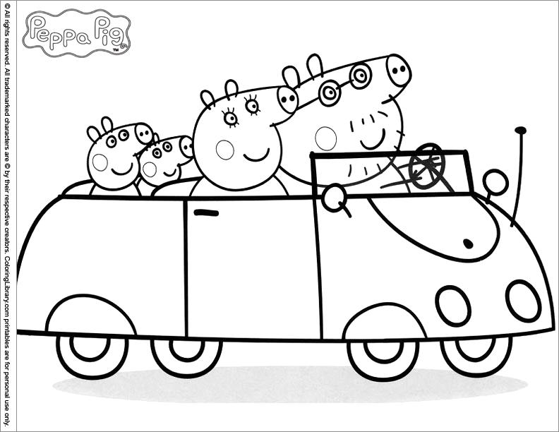 111 dessins de coloriage peppa pig imprimer sur - Dessin a imprimer peppa pig ...