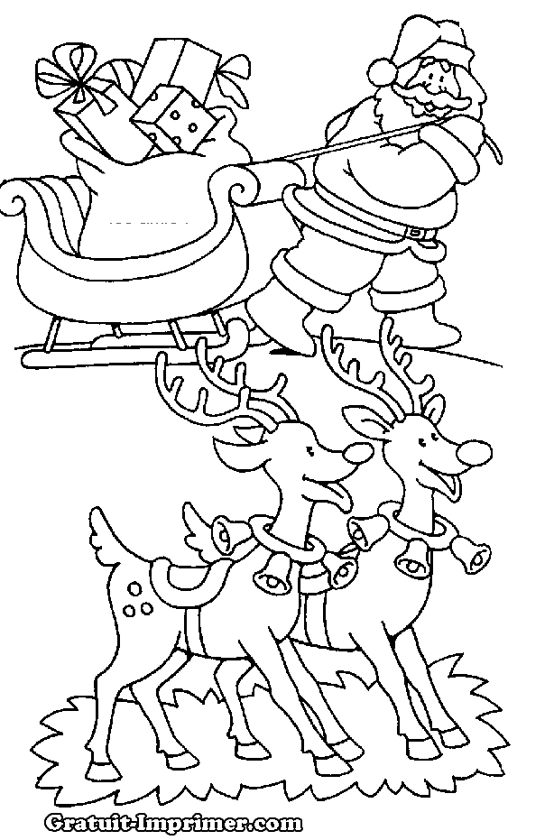 S lection de dessins de coloriage p re no l imprimer sur page 7 - Dessin pere noel a colorier ...