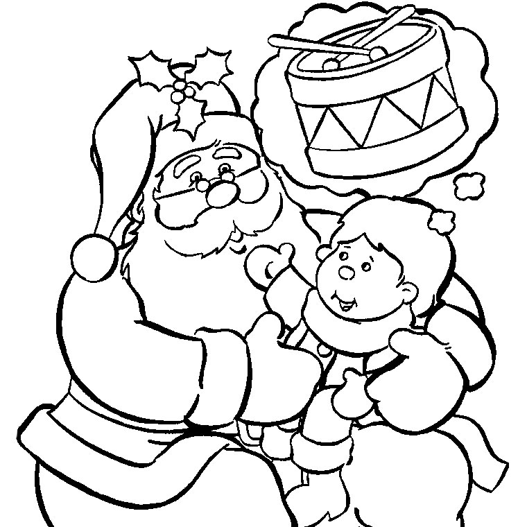 S lection de dessins de coloriage p re no l imprimer sur page 8 - Image pere noel a colorier ...