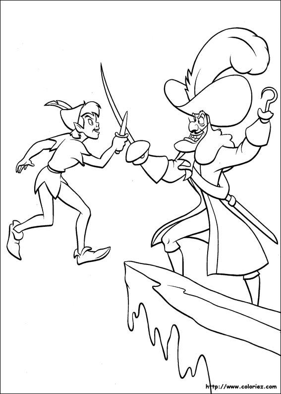 Sélection de dessins de coloriage peter pan à imprimer sur ...