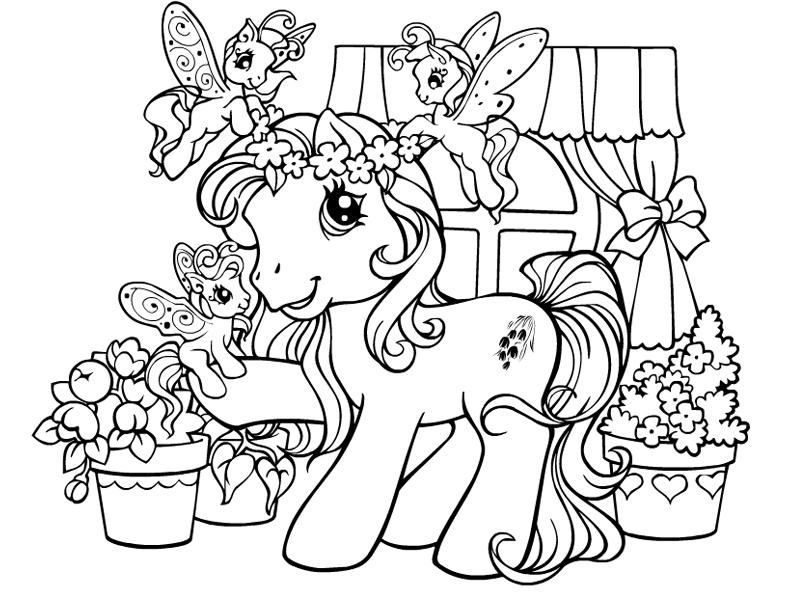 image 26044 coloriage petit poney gratuit