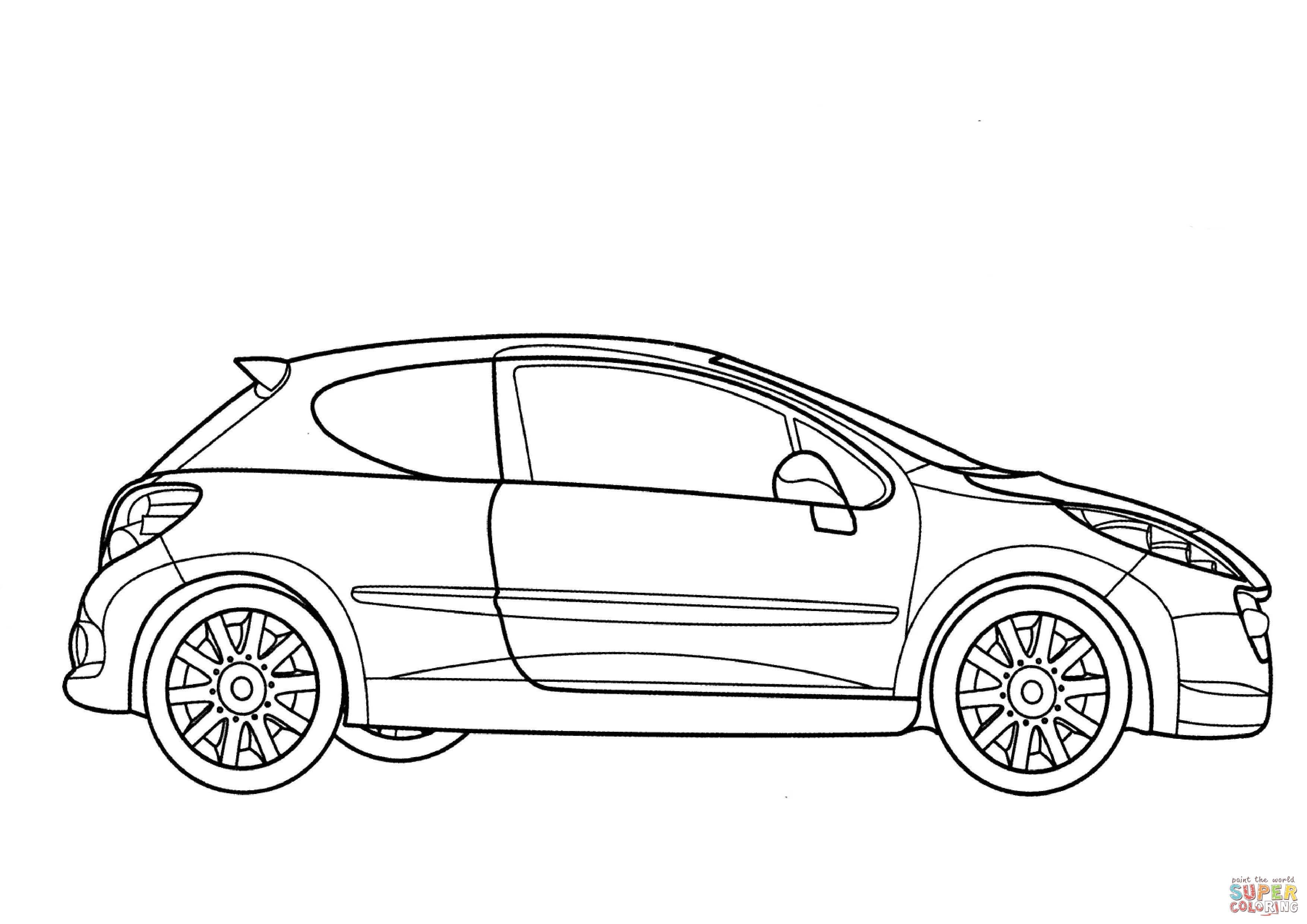 Dessin dessin de Peugeot  colorier et imprimer