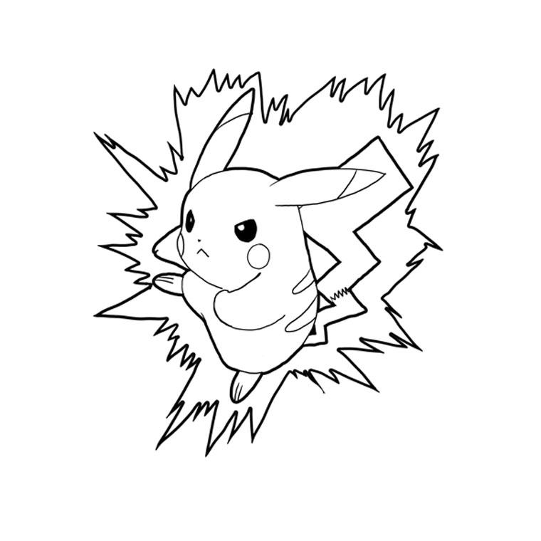 coloriage pikachu gratuit dessin a imprimer 2 - Coloriage Imprimer 2