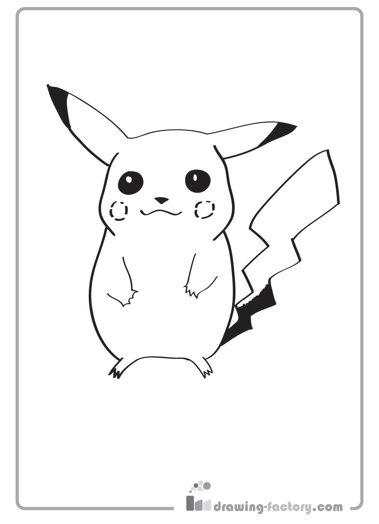 Coloriage pikachu gratuit dessin a imprimer 86