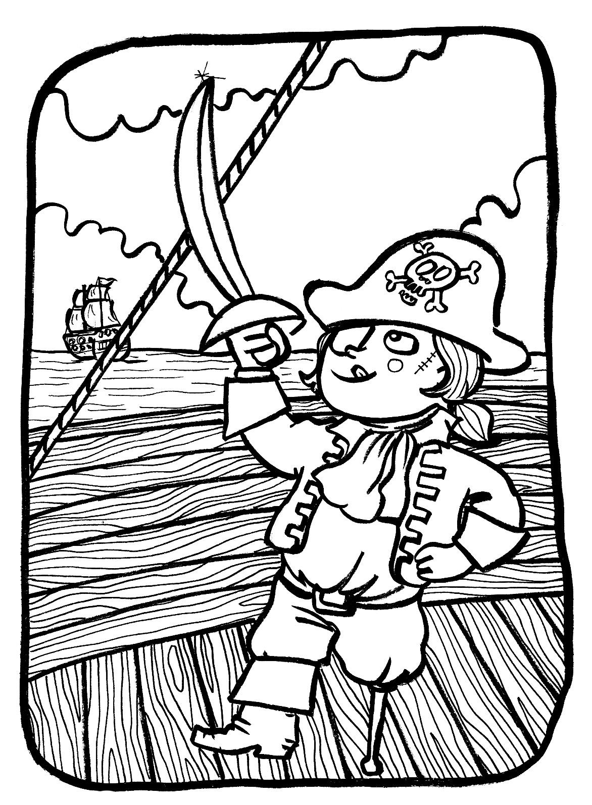 coloriages de pirates coloriages à imprimer gratuits