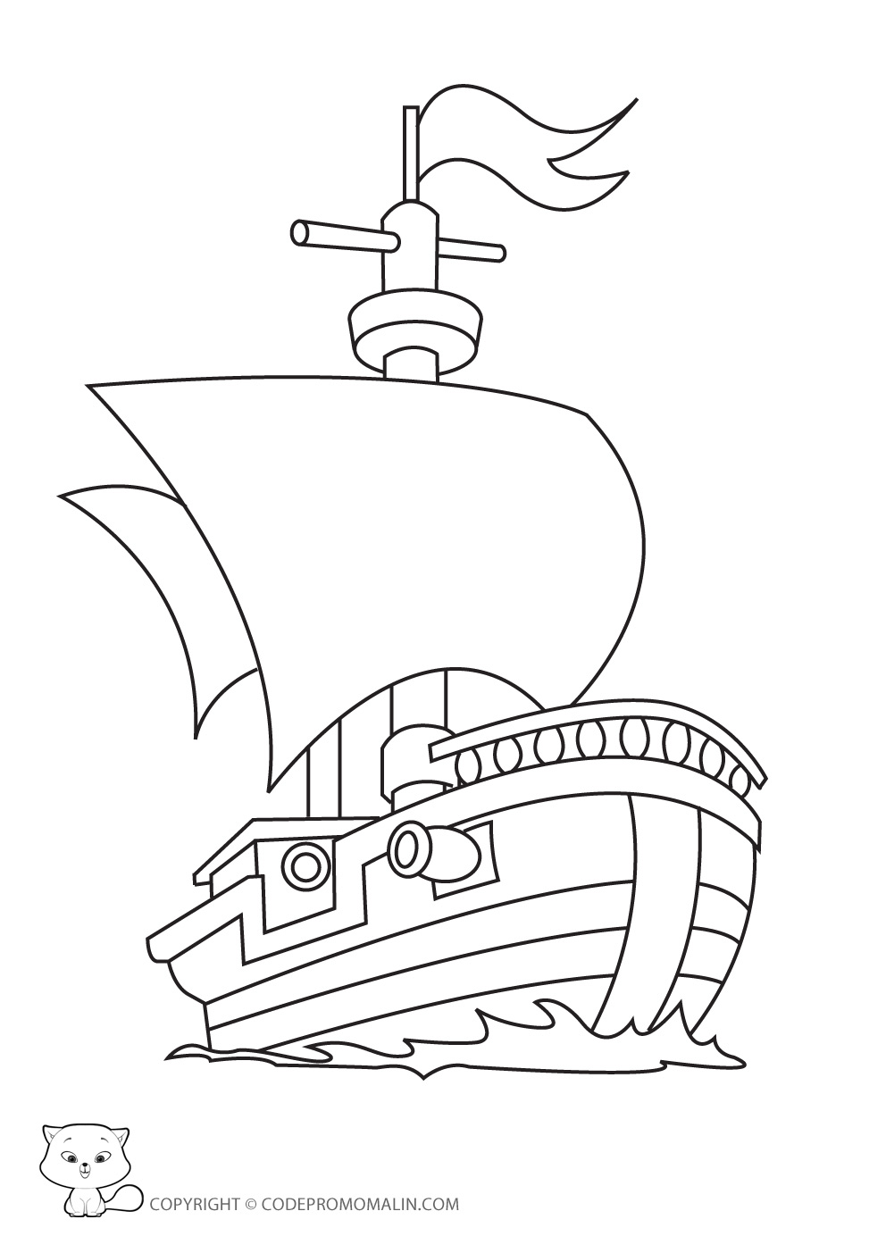 pirate : coloriage