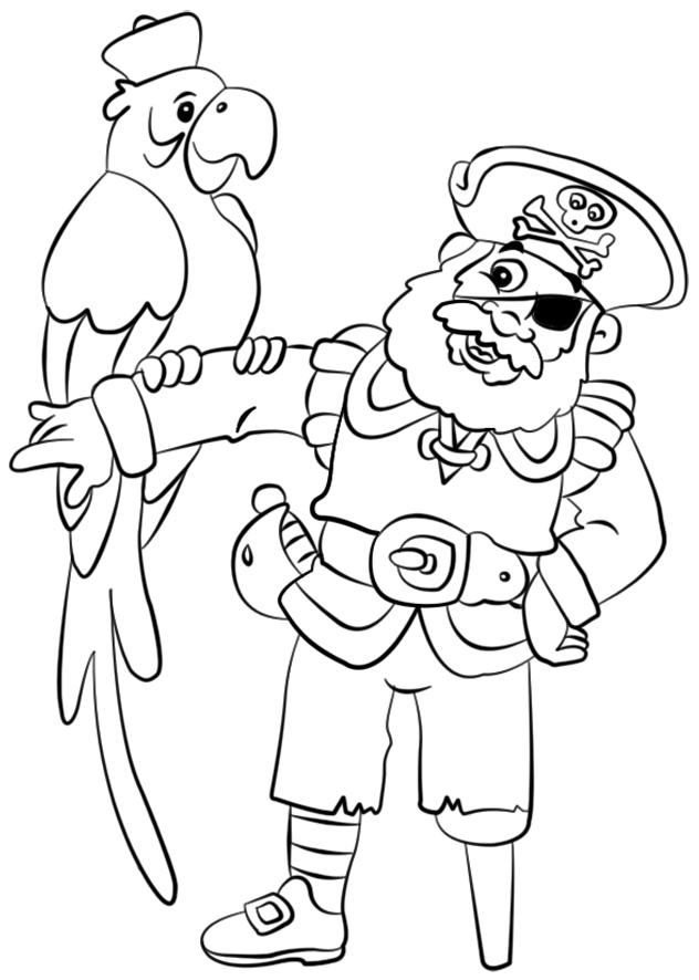Coloriage De Cochon Pirate.Coloriage204 Coloriage De Pirates A Imprimer