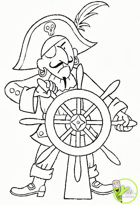 coloriage pirate le capitaine des pirates des caraïbes