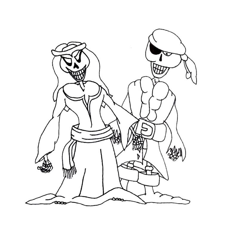 le coloriage pirate fantôme pour imprimer le coloriage pirate