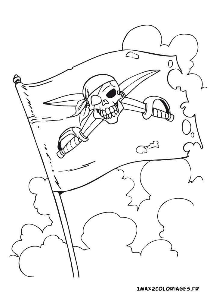 de pirates le drapeau pirate ou choisir un autre coloriage de pirates
