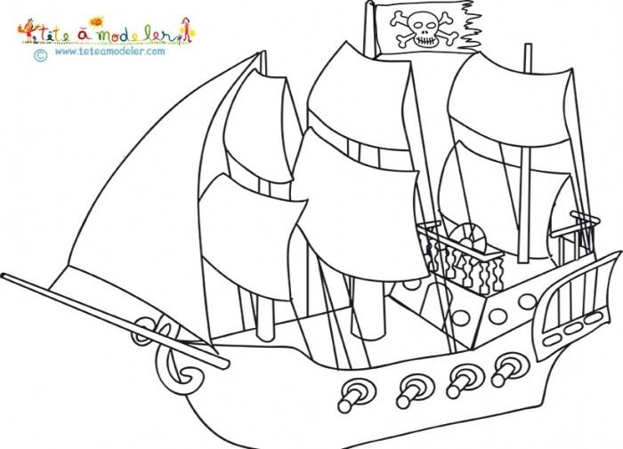 209 dessins de coloriage pirate imprimer sur laguerche - Coloriage bateau de pirate ...