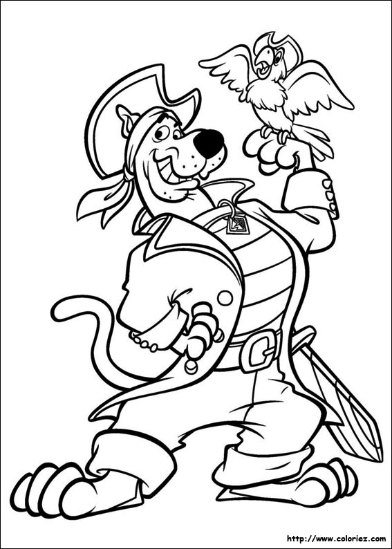 coloriage scooby pirates
