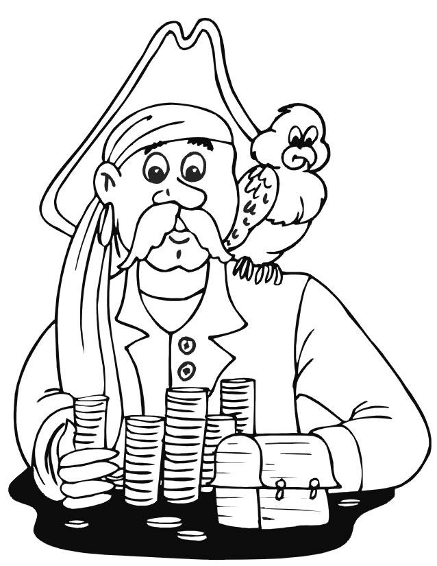 coloriage pirate à imprimer gratuitement