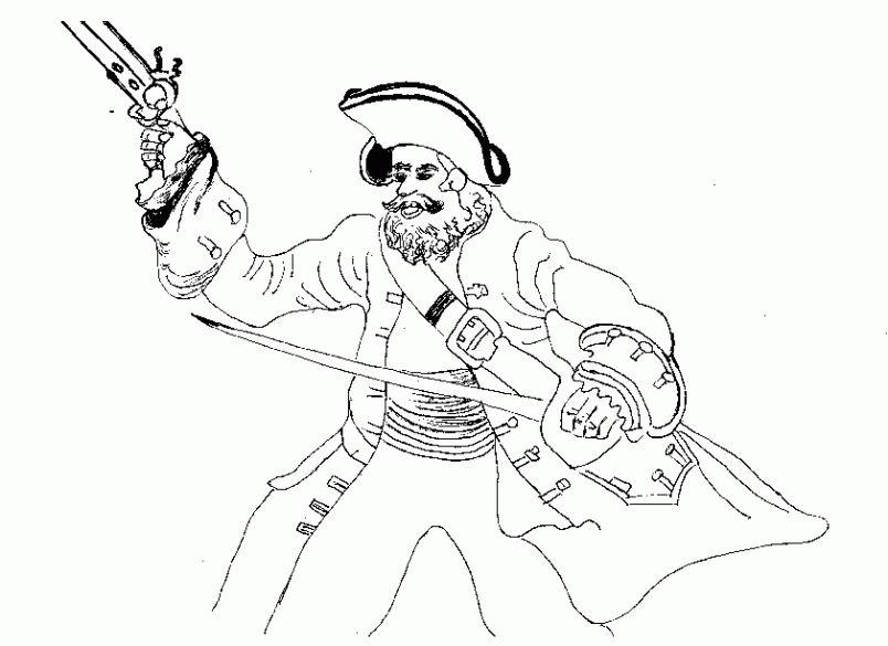 coloriage pirate a imprimer