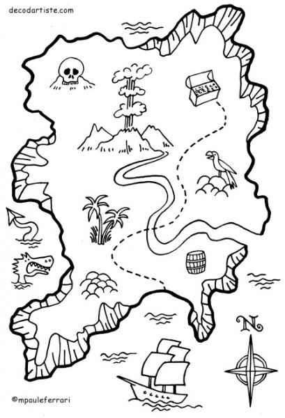 la carte de l'île au trésor crazy cat factory
