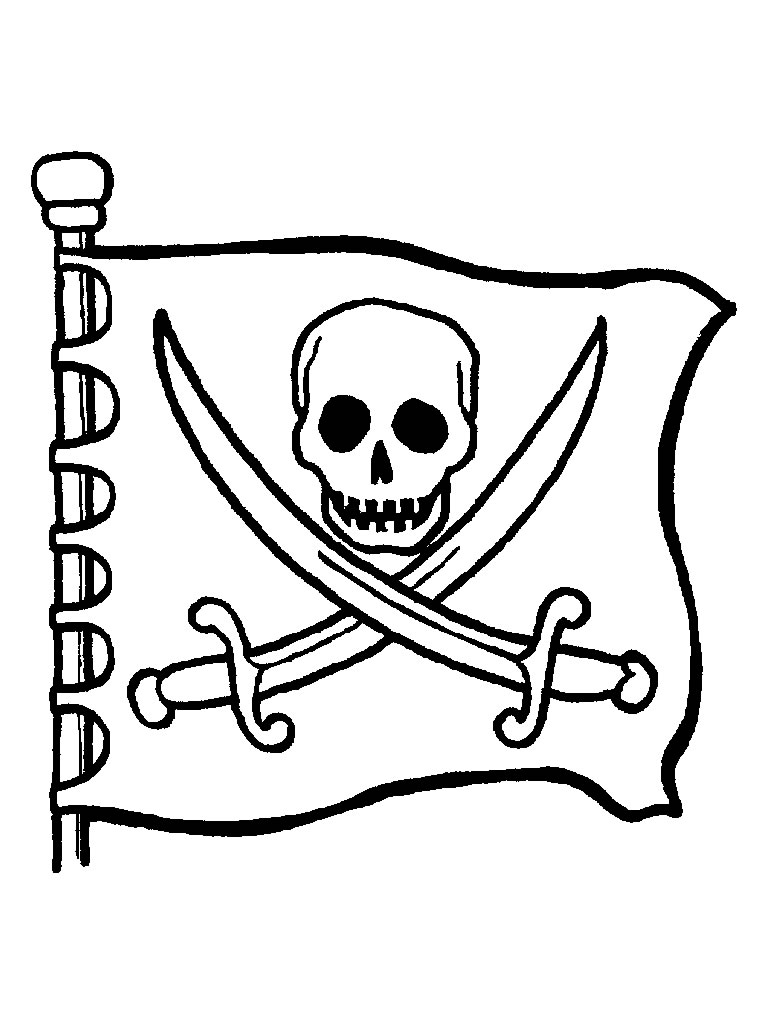 coloriage du drapeau pirate