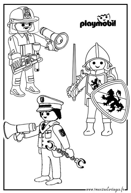 coloriages   jouet   playmobil coloriage
