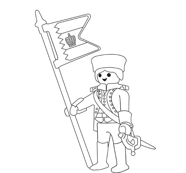 le coloriage playmobil soldat pour imprimer le coloriage playmobil