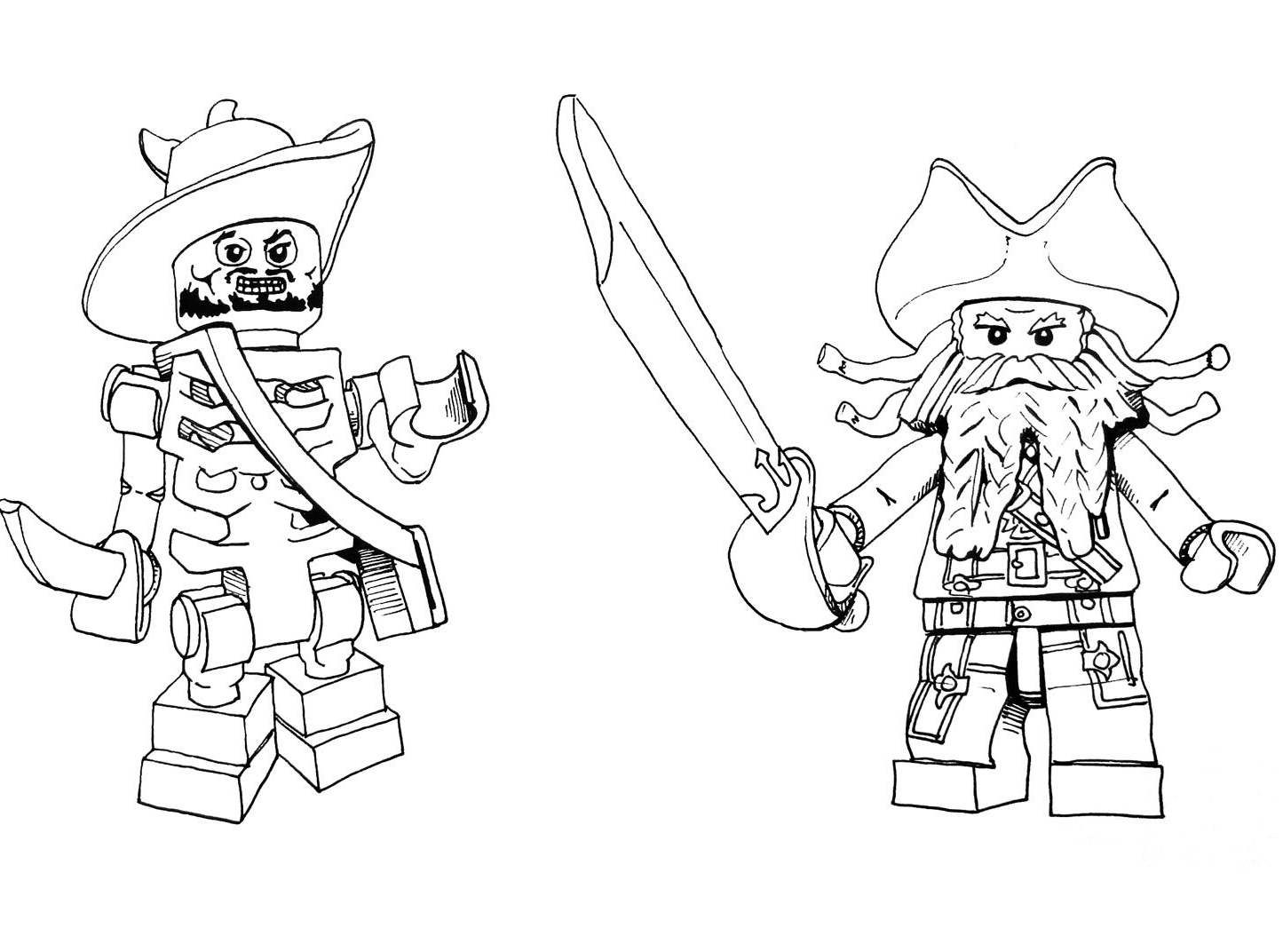 coloriage pirate des caraibe