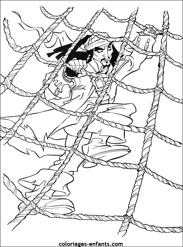 coloriages de pirates