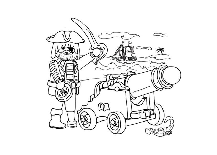 pour imprimer ce coloriage gratuit  coloriage playmobil pirate canon
