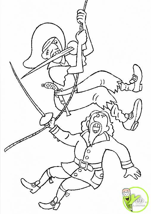 coloriage pirate les pirates à l abordage