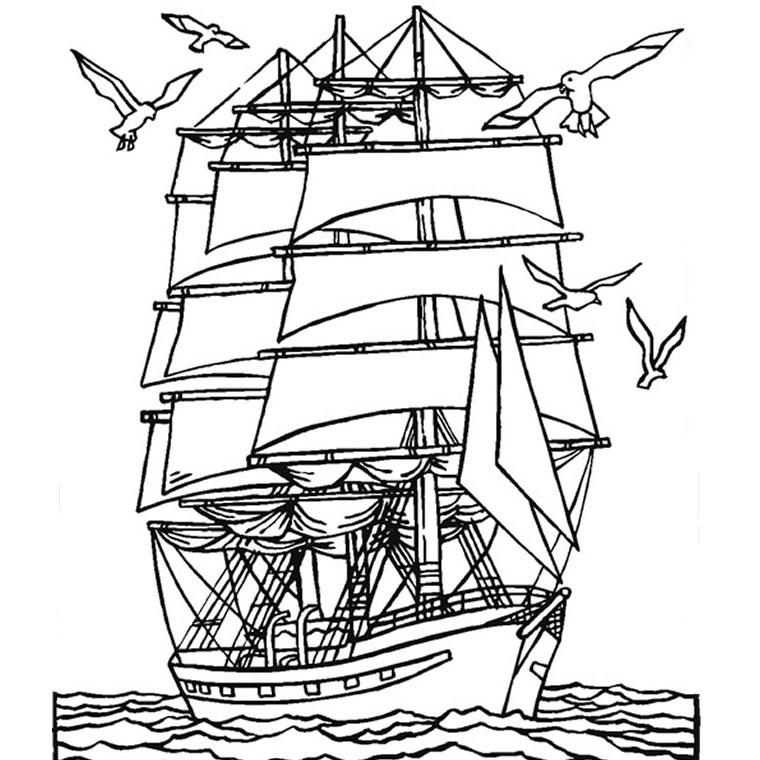 imprimer le coloriage mer et bateau pour imprimer le coloriage mer et