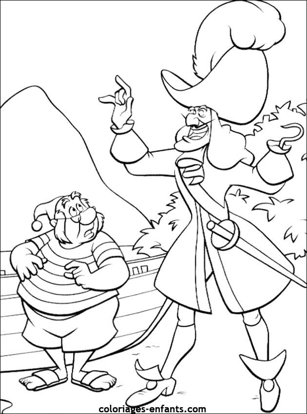coloriage de pirate amusant
