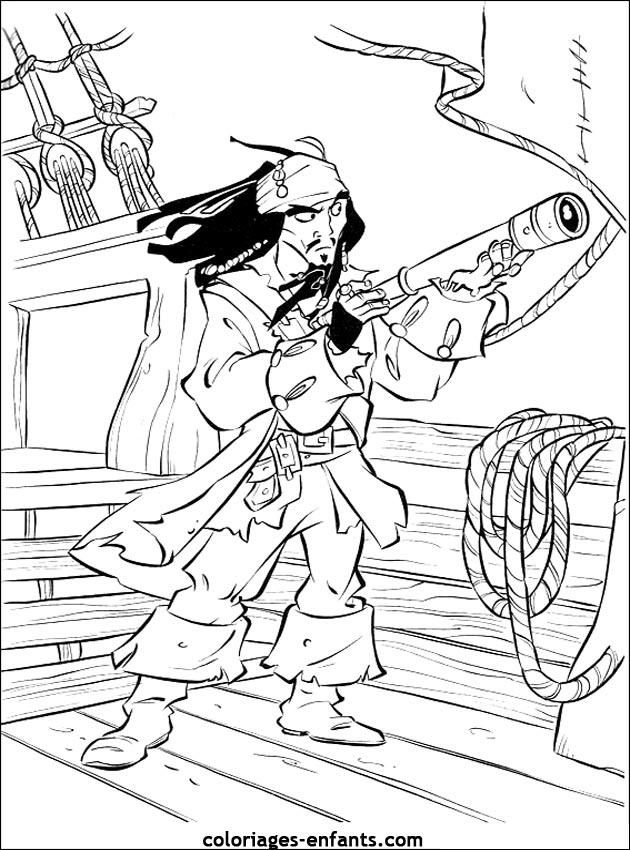 les coloriages de pirates à imprimer